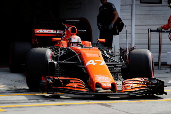 Hungaroring, Budapest, Hungary.  Wednesday 02 August 2017. Lando Norris, McLaren MCL32 Honda. World Copyright: Zak Mauger/LAT Images  ref: Digital Image _54I7917