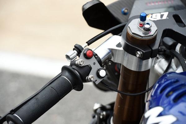 2017 Moto2 Championship - Round 16 Phillip Island, Australia. Thursday 19 October 2017 Xavi Vierge, Tech 3 Racing bike detail World Copyright: Gold and Goose / LAT Images ref: Digital Image 698231