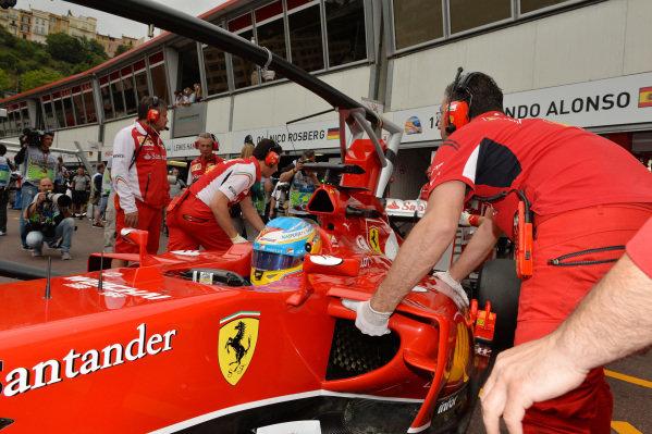 Fernando Alonso (ESP) Ferrari.Formula One World Championship, Rd6, Monaco Grand Prix, Practice, Monte-Carlo, Monaco, Thursday 22 May 2014.