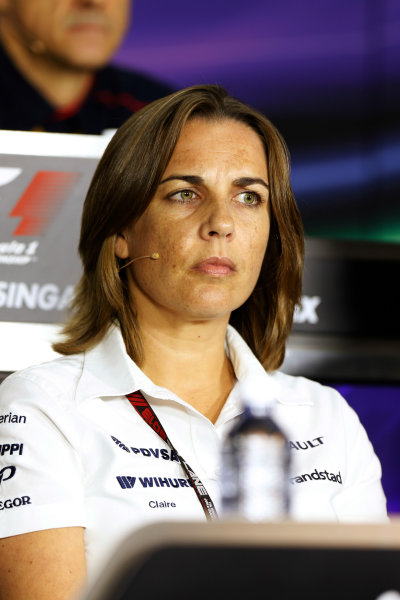 Marina Bay Circuit, Singapore. Friday 20th September 2013.  Claire Williams, Deputy Team Principal, Williams F1.  World Copyright: Alastair Staley/LAT Photographic. ref: Digital Image _R6T0993
