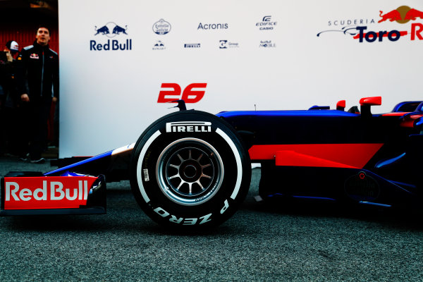 Toro Rosso STR12 Formula 1 Launch. Barcelona, Spain  Sunday 26 February 2017. STR12  World Copyright: Dunbar/LAT Images Ref: _X4I0001