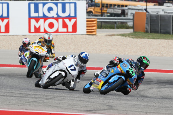 2017 Moto3 Championship - Round 3 Circuit of the Americas, Austin, Texas, USA Sunday 23 April 2017 Enea Bastianini, Estrella Galicia 0,0, John McPhee, British Talent Team World Copyright: Gold and Goose Photography/LAT Images ref: Digital Image Moto3-R-500-2713