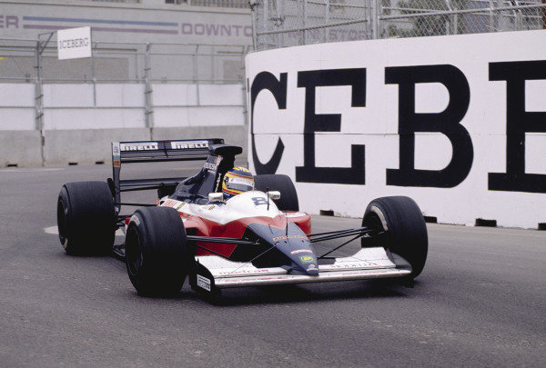1991 United States Grand Prix.Phoenix, Arizona, USA.8-10 March 1991.Mark Blundell (Brabham BT59Y Yamaha).Ref-91 USA 39.World Copyright - LAT Photographic