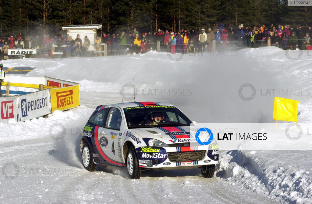 2001 World Rally Championship.   Swedish Rally. 9th - 11th February 2001. Rd 2. Colin McRae on stage four World Copyright: Ralph Hardwick/ LAT Photographic. Ref: McRae3.