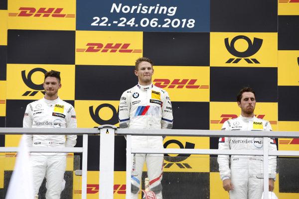 Podium: Race winner Marco Wittmann, BMW Team RMG, second place Edoardo Mortara, Mercedes-AMG Team HWA, Mercedes-AMG C63 DTM, third place Daniel Juncadella, Mercedes-AMG Team HWA  .
