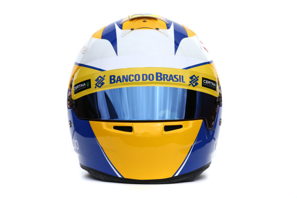 Albert Park, Melbourne, Australia. Helmet of Marcus Ericsson, Sauber.  Thursday 12 March 2015. World Copyright: LAT Photographic. ref: Digital Image 2015_Helmet_022