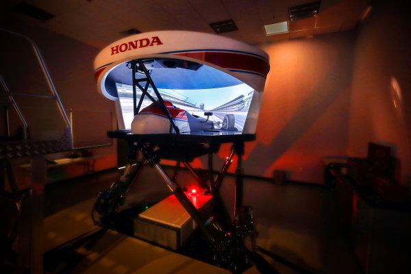 2017 Verizon IndyCar Series Fernando Alonso Simulator Test at HPD-I Brownsburg, Indiana, USA Tuesday 25 April 2017 Fernando Alonso in the Honda Performance Development simulator  World Copyright: Michael L. Levitt LAT Images