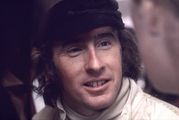 Mexico City, Mexico. 19 October 1969.Jackie Stewart (Matra MS80-Ford), 4th position, portrait. World Copyright: LAT PhotographicRef: Colour Transparency.