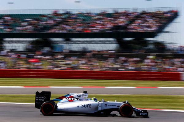 Silverstone, Northamptonshire, England. Friday 03 July 2015. Felipe Massa, Williams FW37 Mercedes. World Copyright: Steven Tee/LAT Photographic. ref: Digital Image _L4R2383