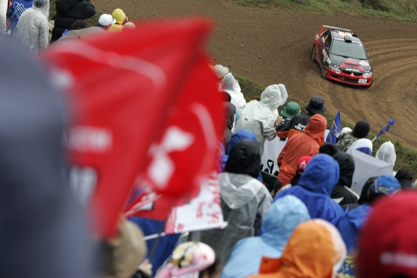 2005 FIA World Rally Champs. Round thirteen,  Rally Japan 2005 29th September- 2nd October 2005 Fumio Nutahara, Mitsubishi PWRC, action World Copyright: McKlein/LAT
