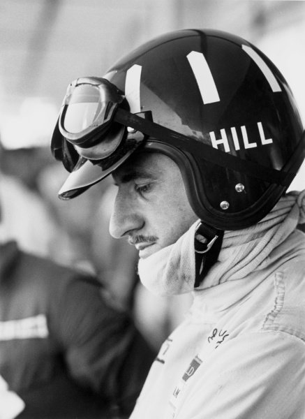1968 South African Grand Prix.Kyalami, South Africa. 1 January 1968.Graham Hill, Lotus 49-Ford, 2nd position, portrait, helmet.World Copyright: LAT PhotographicRef: 1985/6