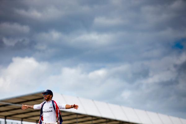 Silverstone, Northamptonshire, UK. Sunday 10 July 2016. Lewis Hamilton, Mercedes AMG.  World Copyright: Zak Mauger/LAT Photographic ref: Digital Image _79P8724