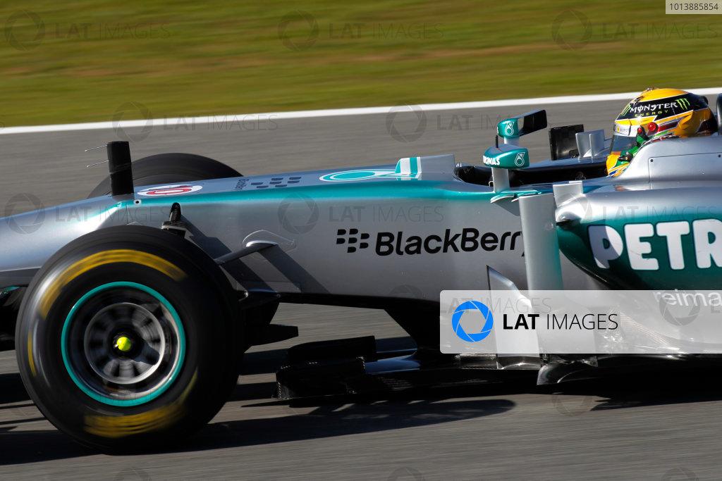 Circuito de Jerez, Jerez de la Frontera, Spain, 4th February 2013 Lewis Hamilton, Mercedes W04, tries out the new 2013 car. World Copyright: Andrew Ferraro/LAT Photographic ref: _Q0C2232