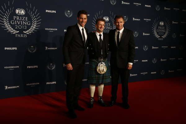 2013 FIA Gala Dinner and Awards. Paris, France. Friday 6th December 2013. World Endurance Champions Loic Duval, Allan McNish and Tom Kristensen on the red carpet. World Copyright & Mandatory Credit: FIA. ref: Digital Image 11241813315_bd0a691bee_o