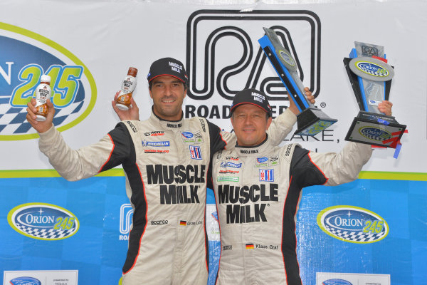 9-11 August, 2013, Elkhart Lake, Wisconsin USA #6 Muscle Milk Pickett Racing HPD, overall winner with Lucas Luhr and Klaus Graf ©Dan R. Boyd LAT Photo USA