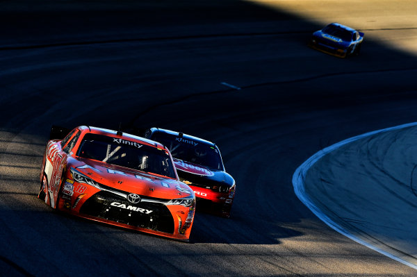 6-7 November, 2015, Fort Worth, Texas USA Daniel Suarez, Arris Toyota Camry (18), Austin Dillon (33) ©2015, John Harrelson / LAT Photo USA