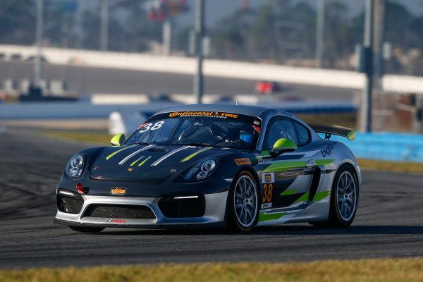 5-8 January, 2017, Daytona Beach, Florida USA 38, Porsche, Porsche Cayman GT4, GS, James Cox, John Tecce ?2017, Jake Galstad LAT Photo USA