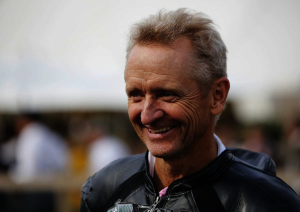 2014 Goodwood Revival Meeting  Goodwood Estate, West Sussex, England. 12th - 14th September 2014.  Kevin Schwantz.  Ref: _W5_4138a. World copyright: Kevin Wood/LAT Photographic
