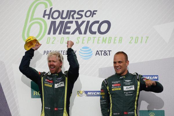 2017 World Endurance Championship, Mexico City, Mexico. 1st-3rd September 2017, #95 Aston Martin Racing Aston Martin Vantage: Nicki Thiim, Marco Sorensen  World copyright. JEP/LAT Images