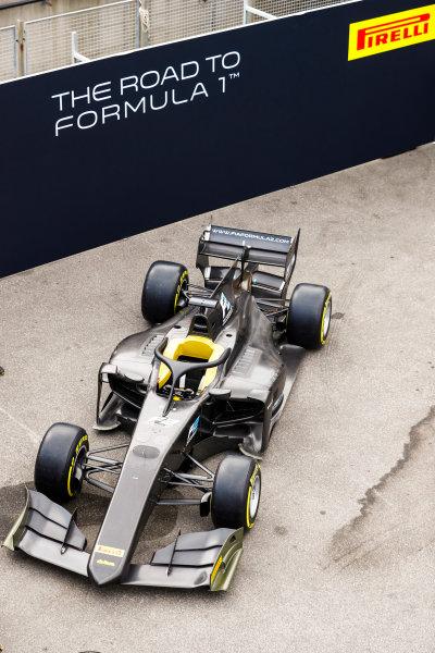 Autodromo Nazionale di Monza, Italy. Thursday 31 August 2017 The new 2018 F2 car. Photo: Steven Tee/FIA Formula 2 ref: Digital Image _R3I1998