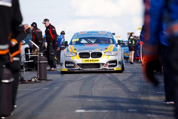 2016 British Touring Car Championship, Donington Park, 16th-17th April 2016 Sam Tordoff (GBR) Team JCT600 with GardX BMW 125i M Sport  World Copyright. Jakob Ebrey/LAT photographic