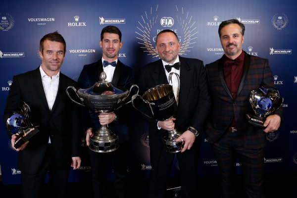 2015 FIA Prize Giving Paris, France Friday 4th December 2015 Sebastien Loeb, Yvan Muller, Yves Matton and Jose Maria Lopez, portrait  Photo: Copyright Free FOR EDITORIAL USE ONLY. Mandatory Credit: FIA / Jean Michel Le Meur  / DPPI ref: _ML23432