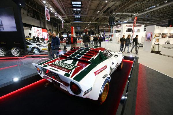 Autosport International Exhibition. National Exhibition Centre, Birmingham, UK. Sunday 14th January 2018. A Lancia Stratos on display.World Copyright: Mike Hoyer/JEP/LAT Images Ref: AQ2Y0106