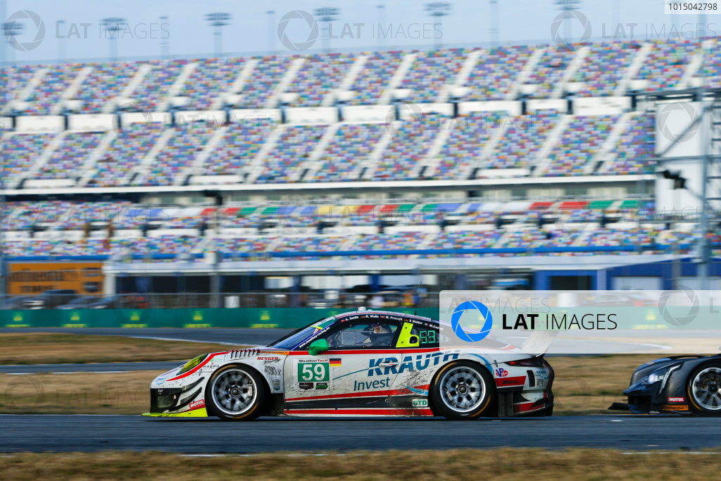 IMSA WeatherTech SportsCar Championship Rolex 24 Hours Daytona Beach, Florida, USA Sunday 28 January 2018 #59 Manthey Racing Porsche 911 GT3 R, GTD: Steve Smith, Harald Proczyk, Sven Muller, Matteo Cairoli, Randy Walls World Copyright: Jake Galstad LAT Images  ref: Digital Image galstad-DIS-ROLEX-0118-308563