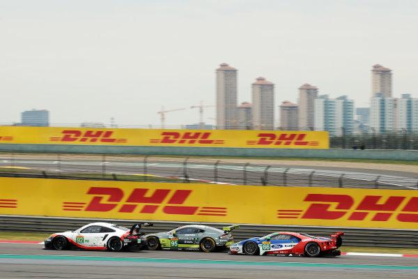2017 FIA World Endurance Championship, Shanghai, China. 3rd-5th November 2017, #92 Porsche GT Team Porsche 911 RSR: Michael Christensen, Kevin Estre  World Copyright. JEP/LAT Images