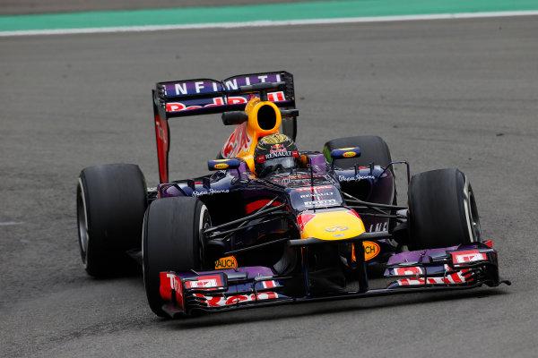 Nurburgring, Germany 5th July 2013 Sebastian Vettel, Red Bull RB9 Renault World Copyright: Charles Coates/  ref: Digital Image _N7T8990