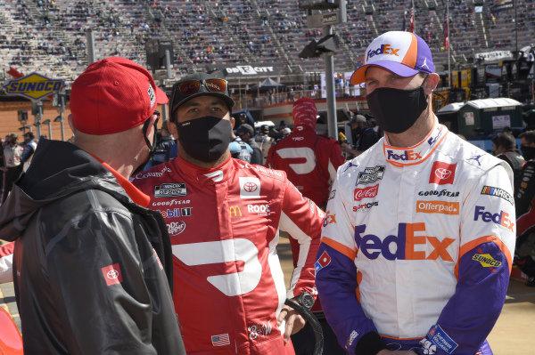 #11: Denny Hamlin, Joe Gibbs Racing, Toyota Camry FedEx Freight, #23: Bubba Wallace, 23XI Racing, Toyota Camry DoorDash