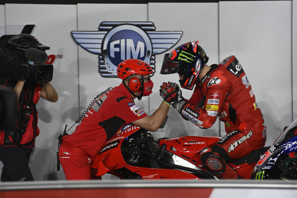 Pole sitter Francesco Bagnaia, Ducati Team.