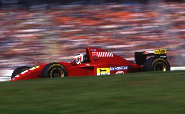 Gerhard Berger (AUT) Ferrari 412T2 finished in third place. Formula One World Championship, Rd9, German Grand Prix, Hockenheim, Germany, 30 July 1995