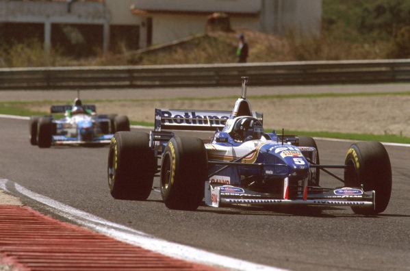 Estoril, Portugal.20-22 September 1996.Damon Hill (Williams Renault) 2nd position. Ref-96 POR 03.World Copyright - LAT Photographic