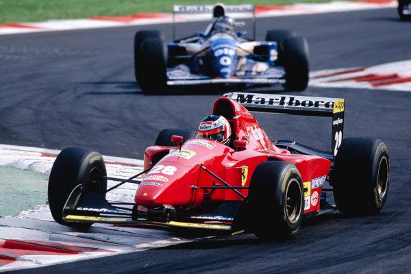 1994 Italian Grand Prix.Monza, Italy. 9-11 September 1994.Gerhard Berger (Ferrari 412T1B) 2nd position.Ref-94 ITA 22.World Copyright - LAT Photographic