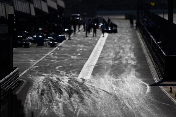 2017/2018 FIA Formula E Championship. Official Test - Valencia, Spain Monday 2 October 2017. The Formula E pit lane Photo: Sam Bloxham/LAT/Formula E ref: Digital Image _W6I0152