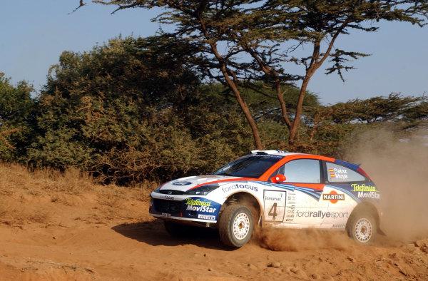 2002 World Rally Championship.Safari Rally, Nairobi Kenya, July 11-14th.Carlos Sainz on section one.Photo: Ralph Hardwick/LAT