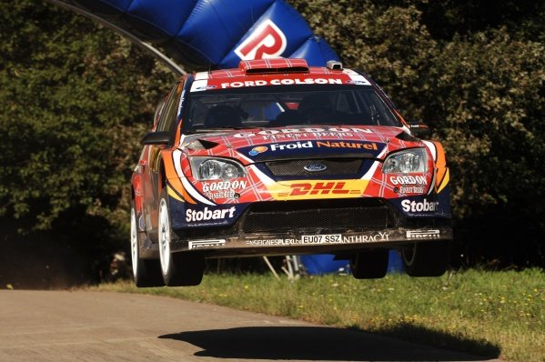 Francois Duval (BEL), Ford Focus WRC, on stage 10. FIA World Rally Championship, Rd9, ADAC Rally Deutschland, Trier, Germany, Day Two, Saturday 21 August 2010.