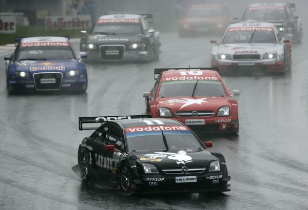 2005 DTM ChampionshipIstanbul, Turkey. 2nd October 2005Laurent Aiello (Opel Vectra GTS V8) leads Heinz Harald Frentzen (Opel Vectra GTS V8) and Martin Tomczyk (Abt Sportsline Audi A4). Action.Copyright: ITR/dtm de (For Editorial Use Only)ref: Digital Image
