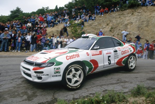 1994 World Rally Championship.Tour de Corse, Corsica, France. 5-7 May 1994.Didier Auriol/Bernard Occelli (Toyota Celica Turbo 4WD), 1st position.World Copyright: LAT PhotographicRef: 35mm transparency 94RALLY04