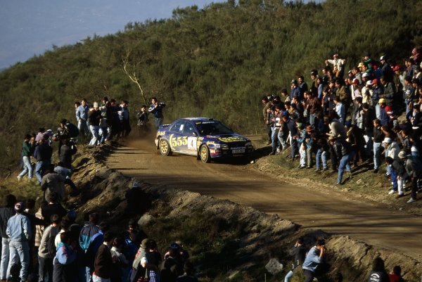 1995 World Rally Championship.Portuguese Rally, Portugal. 8-20 March 1995.Colin McRae/Derek Ringer (Subaru Impreza 555), position.World Copyright: LAT PhotographicRef: 35mm transparency 95RALLY27