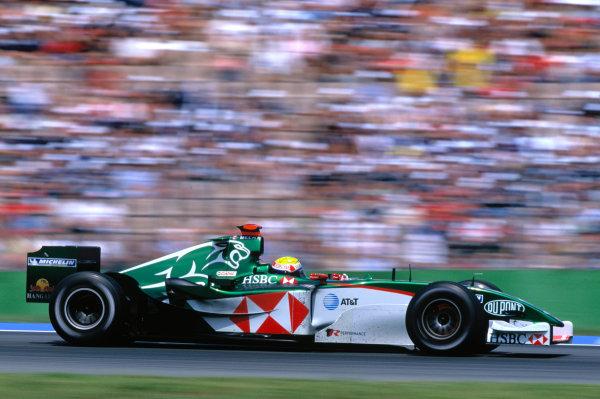2004 German Grand PrixHockenheim, Germany. 23rd - 25th July.Mark Webber, Jaguar R5. Action. World Copyright:Charles Coates/LAT Photographic Ref:35mm Image:A16