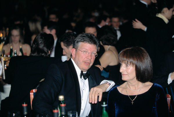 2003 Autosport AwardsGrosvenor Hotel, London, EnglandRoss and Jean Brawn.World Copyright: Gold/LATref: 35mm Transparency (30mb scan)