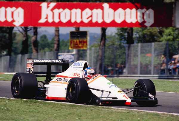 1989 San Marino Grand Prix.Imola, Italy.21-23 April 1989.Nicola Larini (Osella FA1M Ford) 12th position.Ref-89 SM 22.World Copyright - LAT Photographic