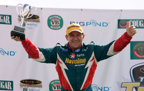 2004 Australian V8 SupercarsSymmons Plain Raceway, Tasmania. November 14th.V8 Supercar driver Russell Ingall took his first round win for the year at Round 12. Podium. World Copyright: Mark Horsburgh/LAT Photographicref: Digital Image Only