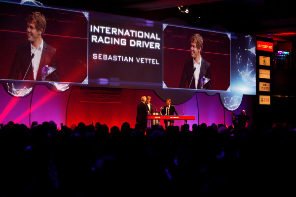 Sunday  Sebastien Vettel, winner of the International Racing Driver award. World Copyright:Alastair Staley/  ref: Digital Image _MG_9771