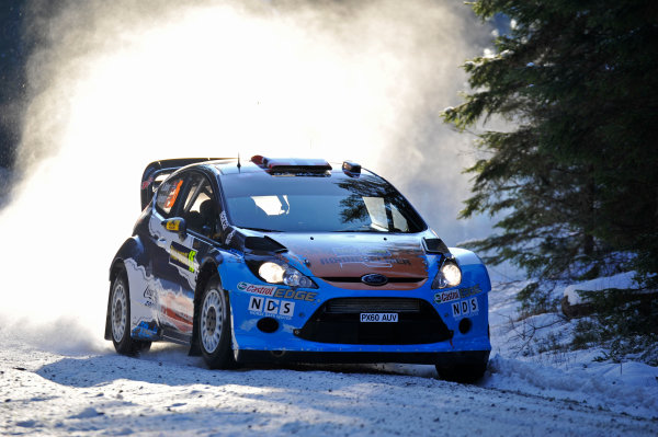 Round 02 - Rally Sweden 09-12 February 2012. Mads Ostberg, Ford WRC, Action  Worldwide Copyright: McKlein/LAT