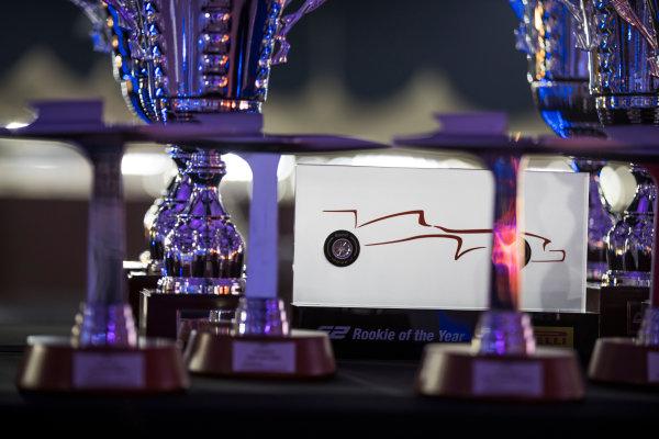 2017 GP2/3 Awards Evening. Yas Marina Circuit, Abu Dhabi, United Arab Emirates. Sunday 26 November 2017. Trophies Photo: Sam Bloxham/FIA Formula 2/GP3 Series. ref: Digital Image _J6I2756