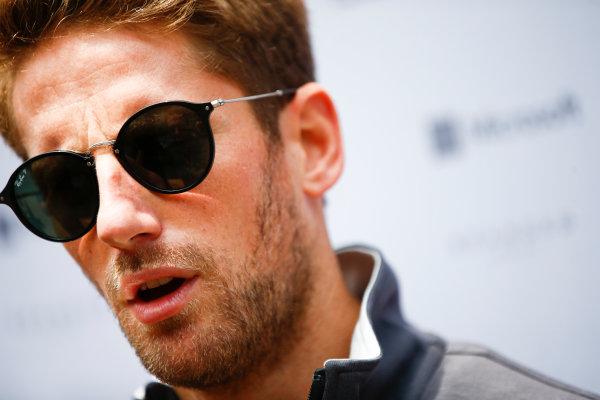 Interlagos, Sao Paulo, Brazil. Thursday 09 November 2017. Romain Grosjean, Haas F1. World Copyright: Andy Hone/LAT Images  ref: Digital Image _ONY7368