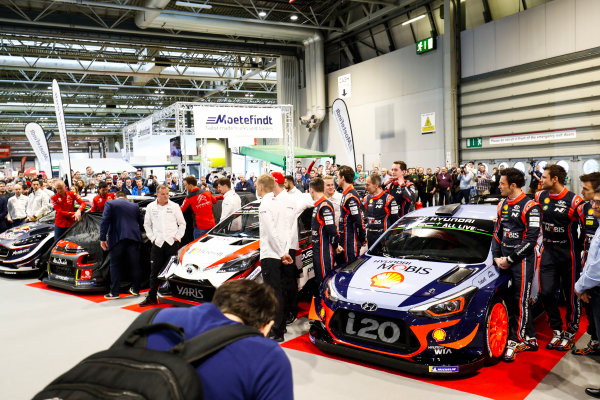 Autosport International Exhibition. National Exhibition Centre, Birmingham, UK. Thursday 11th January 2017. Fans gather to see the 2018 WRC season launched.World Copyright: Ashleigh Hartwell/LAT Images Ref: _O3I7838